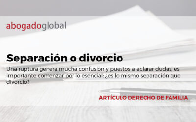 ¿Separación o divorcio?